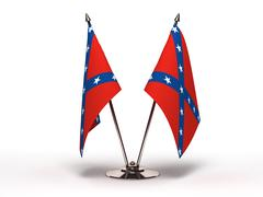 Miniature flag of confederate (isolated) Stock Photos