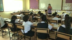 Asian Class Room In Full Session Stock Footage