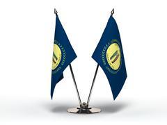 miniature flag of kentucky (isolated) - stock photo