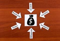 Words about money Stock Illustration