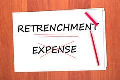 retrenchment - stock photo