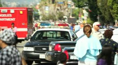 Los Angeles Fire and Rescue Stock Footage