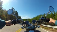 Stock Video Footage of POV Motorcycle Riding On Mountain Forest Road 4