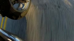 Road Whizzing By Beneath Motorcycle 1 Stock Footage