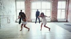 Dance team clip Stock Footage
