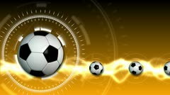 Soccer Ball Sport Background 12 (HD) - stock footage
