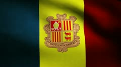 Andorra flag. Stock Footage