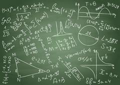 Mathematical formulas Stock Illustration