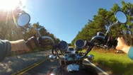 Stock Video Footage of Wide Angle POV Motorcycle Climbing Steep Mountain Road 1