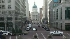 Indiana Capitol Building from Monument Circle Stock Footage