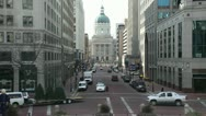 Stock Video Footage of Indiana Capitol Building from Monument Circle
