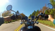 Stock Video Footage of Wide Angle POV Motorcycle Climbing Steep Mountain Road 2