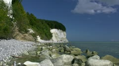 White Chalk Cliffs on Rügen Island - Baltic Sea, Northern Germany Stock Footage
