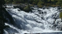 Waterfalls in yellowstone - stock footage