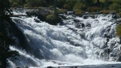 Waterfalls in yellowstone Stock Footage