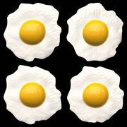 fried eggs - stock illustration