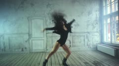 Young woman dancing - stock footage