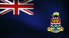 Cayman island flag Stock Footage