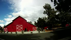 Camarillo house red barn time lapse cutaway transition historic motivation Stock Footage