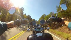 Wide Angle POV Motorcycle Climbing Steep Mountain Road 1 Stock Footage