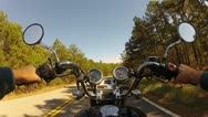 Stock Video Footage of Wide Angle POV Riding Motorcycle On Forest Road 4