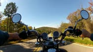 Stock Video Footage of Wide Angle POV Riding Motorcycle On Forest Road 5