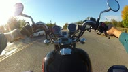 Stock Video Footage of POV Motorcycle Riding In Small Town America 2