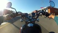 Stock Video Footage of POV Motorcycle Riding In Small Town America 3