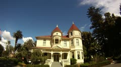 Camarillo house time lapse old mansion manor home vintage outdoors historic Stock Footage