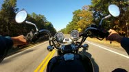 Stock Video Footage of POV Motorcycle Riding Country Road SE Oklahoma 3
