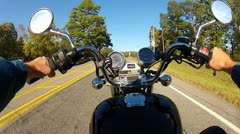 POV Motorcycle Riding Country Road SE Oklahoma 1 Stock Footage
