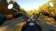 Stock Video Footage of POV Motorcycle Riding Country Road SE Oklahoma 8