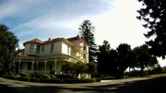 Camarillo house time lapse cutaway transition historic manchin historic  Stock Footage