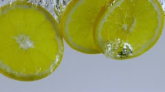 fresh lemons - stock footage