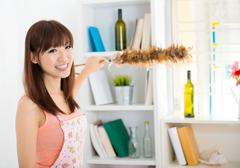 cleaning house - stock photo