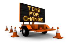 Time For Change - Construction Sign Message - stock illustration
