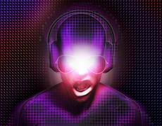 Dj With Headphones Stock Illustration