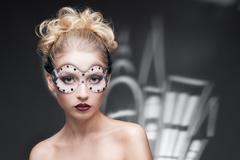 young woman in fantasy makeup - stock photo