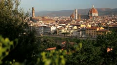 Florence the Arno River, Italy Stock Footage