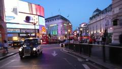 Driving up Regent Street from Piccadilly Circus - stock footage