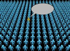 Voice of one person in crowd illustration Stock Illustration