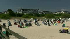 Seaside Resort Town Ahlbeck on Usedom Island - Baltic Sea, Northern Germany Stock Footage