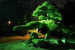Zen garden by nigh Stock Photos