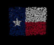 texan flag on blocks illustration - stock illustration