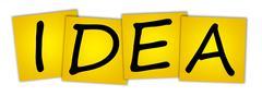 Stock Photo of word idea
