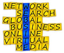 Crossword website Stock Photos