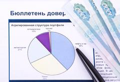 Stock Photo of chart, money and pen