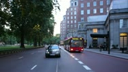 Stock Video Footage of Park Lane,London. Rear POV.