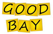 Stock Photo of word good bay