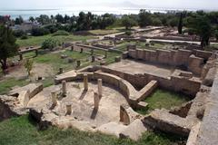 ruins in carthage - stock photo